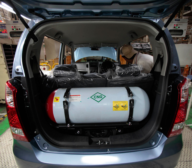 <em>Δεξαμενές Φυσικού Αερίου (Compressed Natural Gas) οχημάτων.</em>